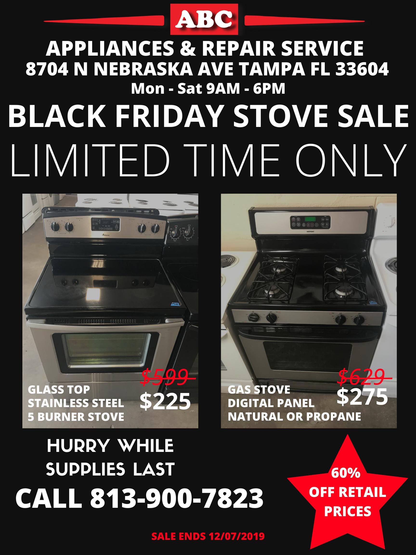 Black Friday Stove Deals 2019